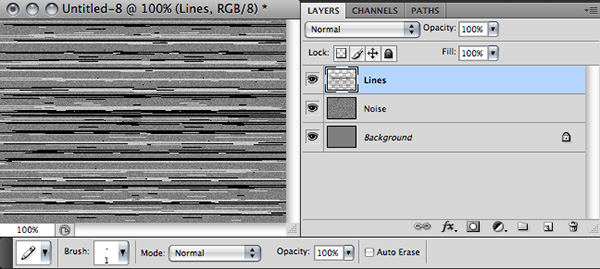 draw horizontal lines