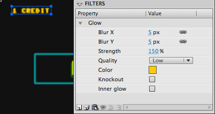 Glow Filter on Text