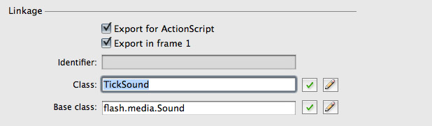 Tick Sound Linkage Settings