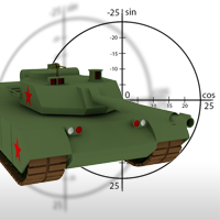 Deploy a Tank on a Mission in an Isometric War Zone