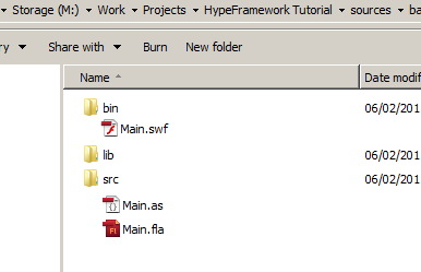 Overview of folder structure