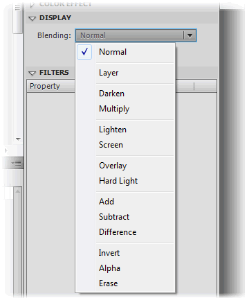 Blending modes in Flash