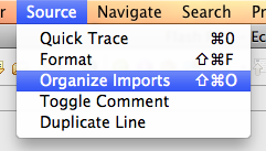Choose Organzie Imports from the Source Menu or use the shortcut