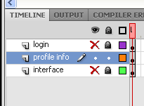 profile info layer