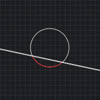 Collision Detection Between a Circle and a Line