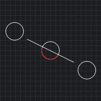 Collision Detection Between a Circle and a Line Segment