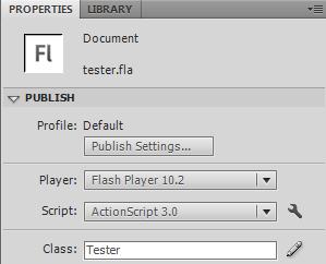 Tester properties Document Class