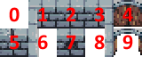 sprite sheet for the walls in our level