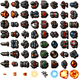 Our upgraded spritesheet.