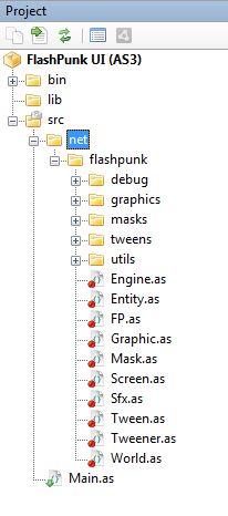 Added FlashPunk to our project