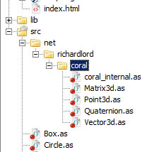 Coral integrated with source folder